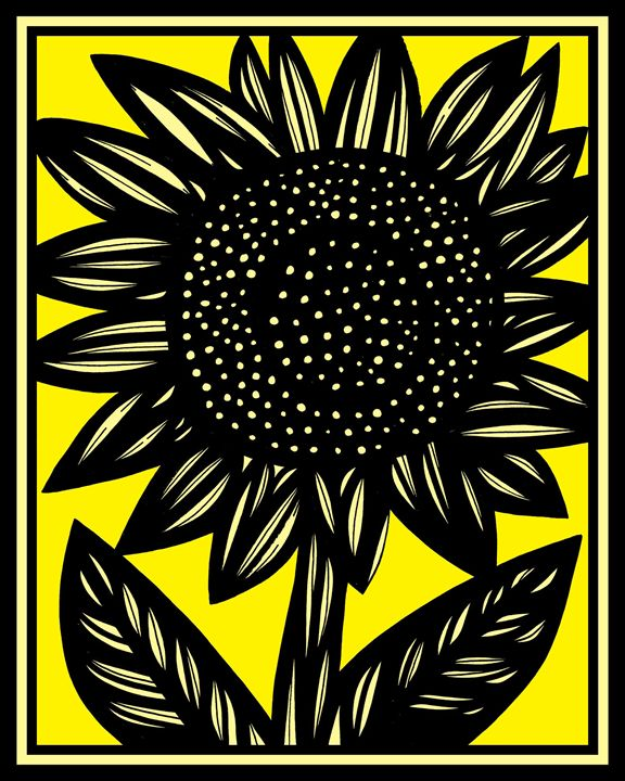 Aria Sunflower Yellow Black - 631 Art