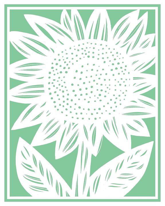 Assemblage Sunflower Green White - 631 Art