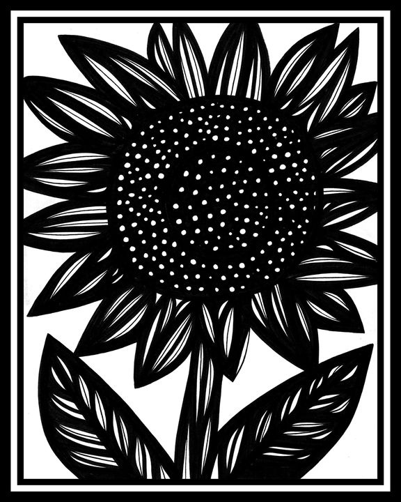 Riparian Flowers Black and White - 631 Art