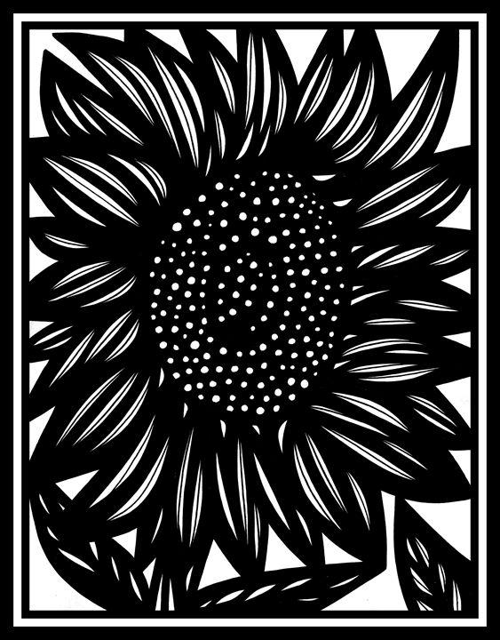 Imbroglio Flowers Black and White - 631 Art