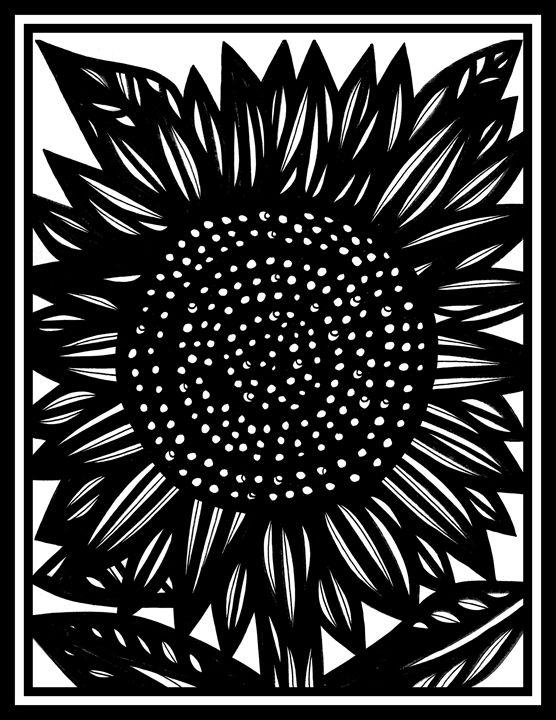 Gossamer Flowers Black and White - 631 Art