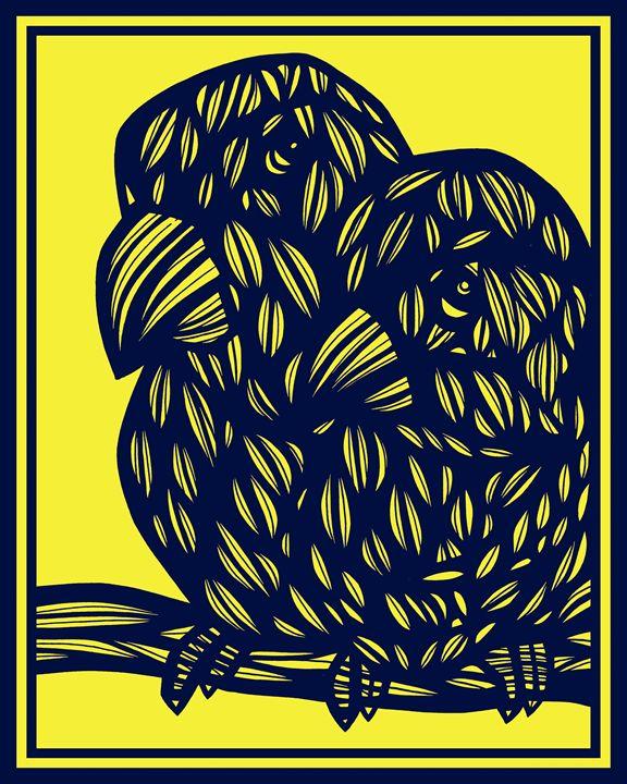 Fahrenwald Parrot Yellow Blue - 631 Art