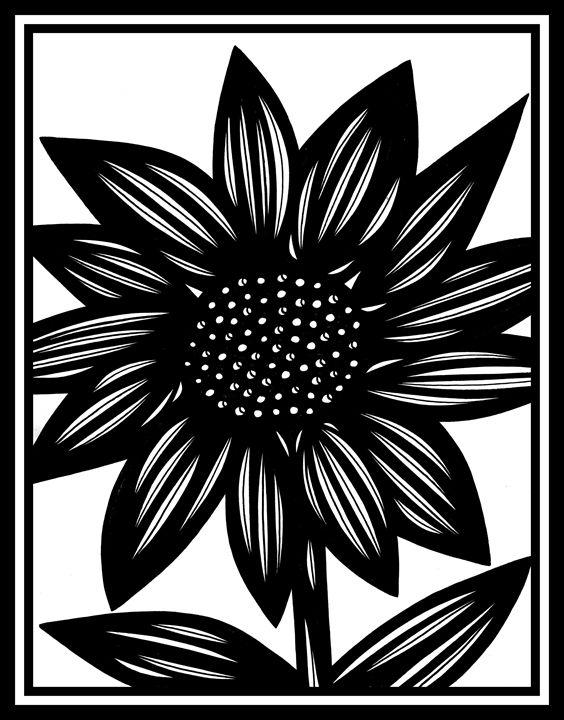 Callipygous Flowers Black and White - 631 Art