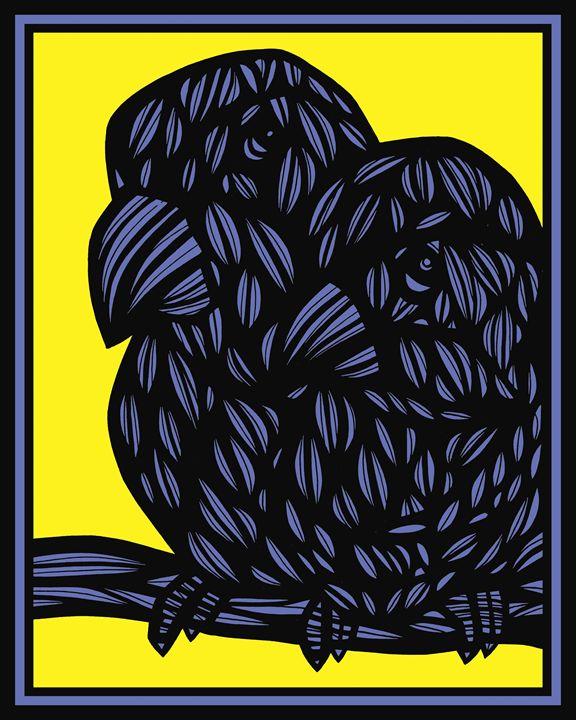 Knepshield Parrot Yellow Blue Black - 631 Art
