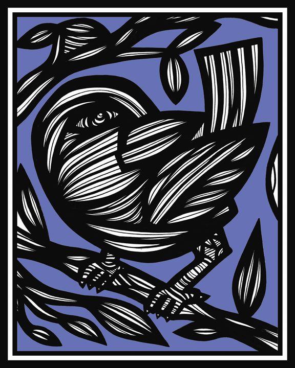 Hefner Bird Blue White Black - 631 Art