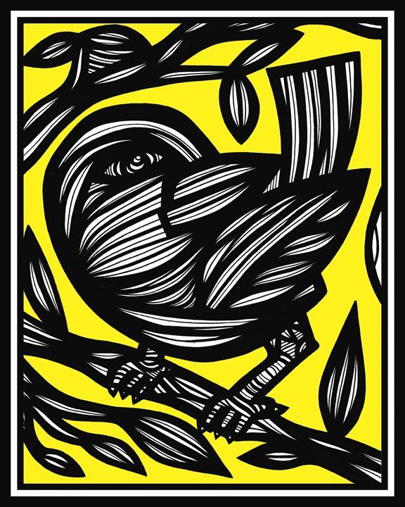 Gertel Bird Yellow Black - 631 Art