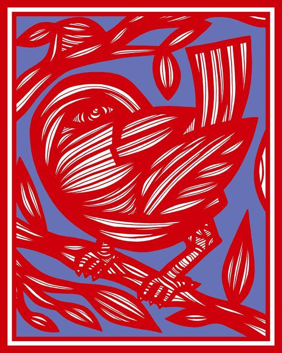 Lapp Bird Red Blue - 631 Art
