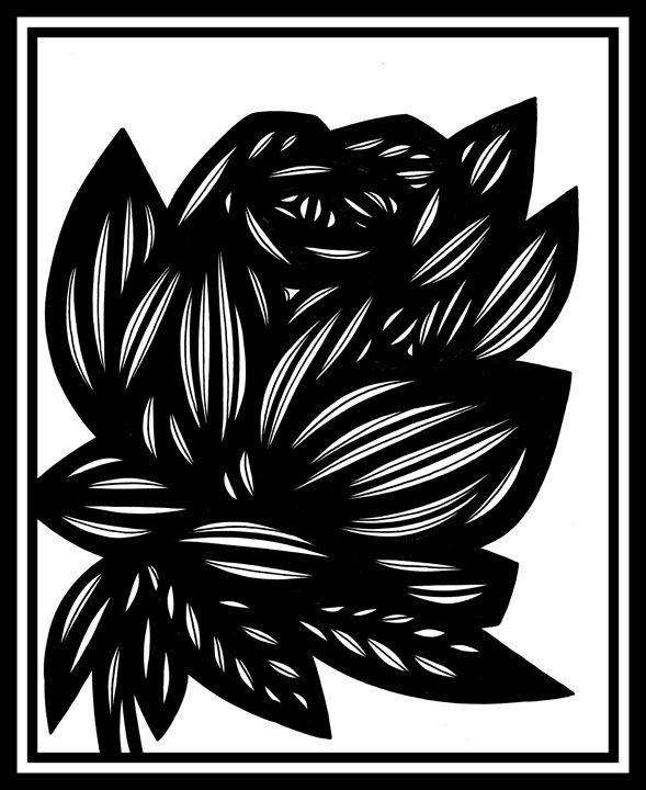 Brood Flowers Black and White - 631 Art