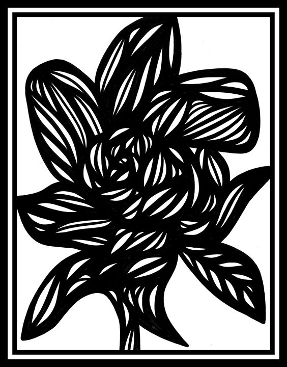 Milieu Flowers Black and White - 631 Art