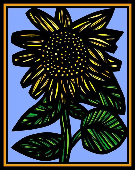 Cancrizans Flowers Yellow Blue Black - 631 Art