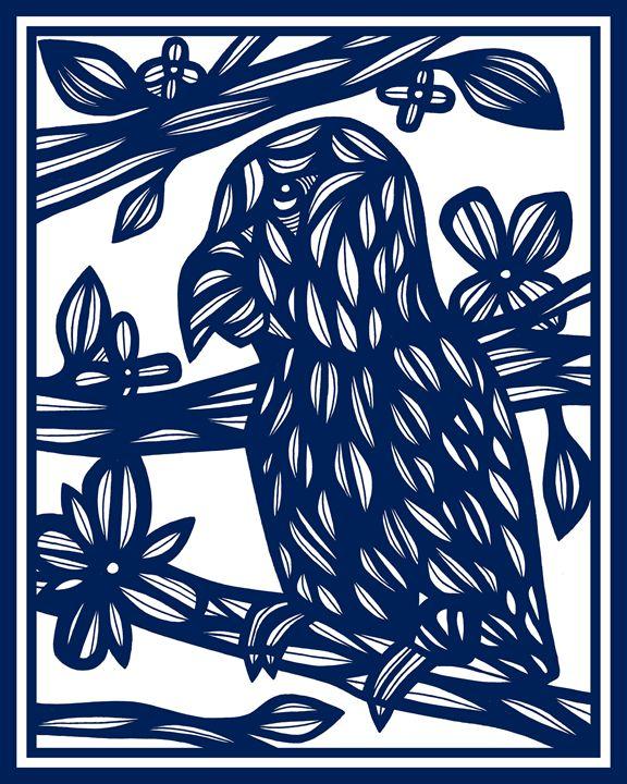 Norkus Parrot Blue White - 631 Art
