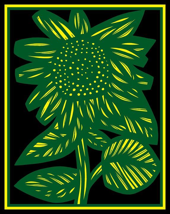 Bardiglio Flowers Yellow Green Black - 631 Art