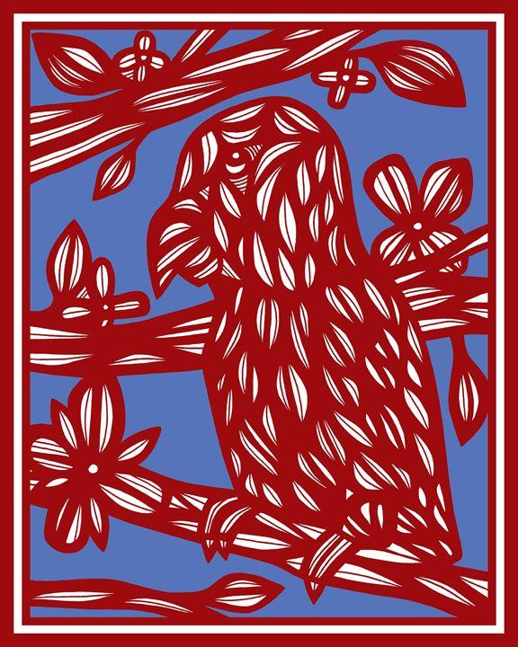 Hronick Parrot Red Blue - 631 Art