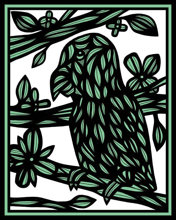 Mccullan Parrot Green Black - 631 Art