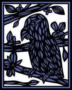 Barbrick Parrot Blue White Black