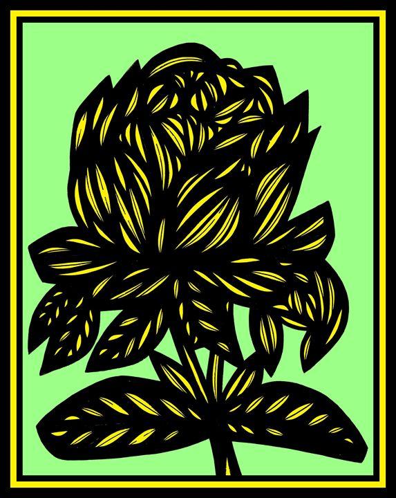Shiver Flowers Yellow Black - 631 Art