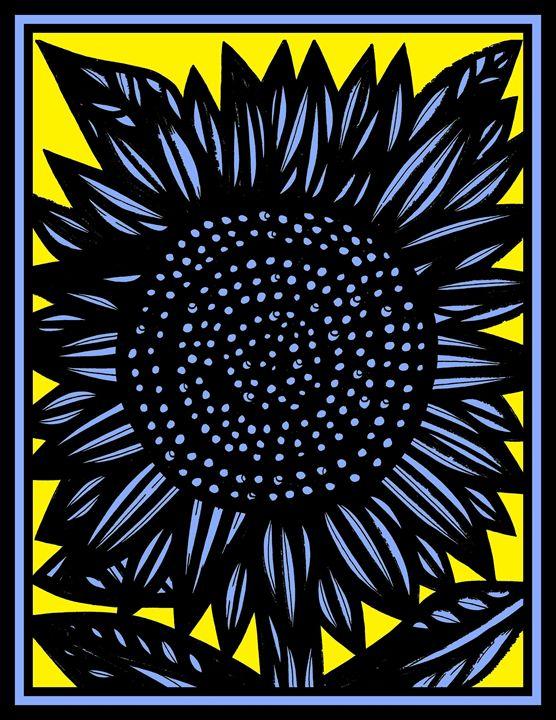 Clandestine Flowers Yellow Blue - 631 Art