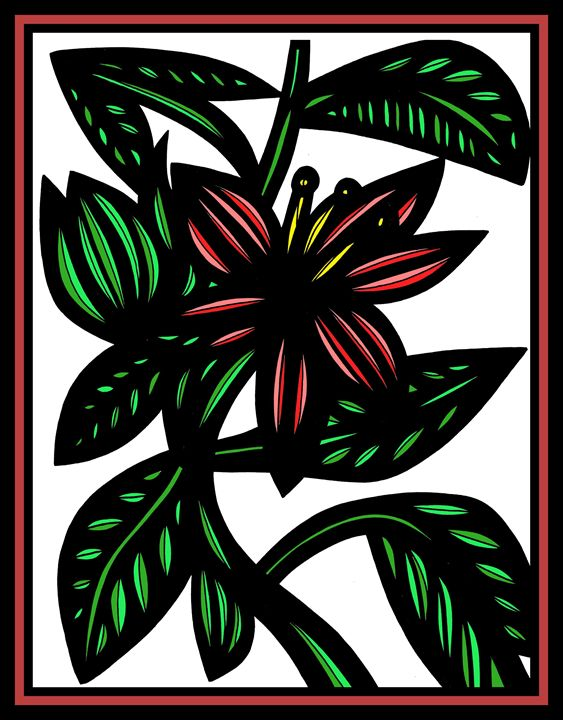 Alluvium Flowers Red Green White - 631 Art