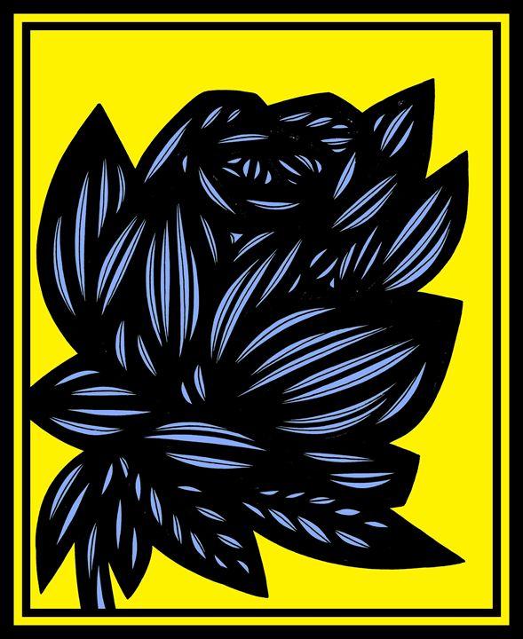 Apophenia Flowers Yellow Blue Black - 631 Art