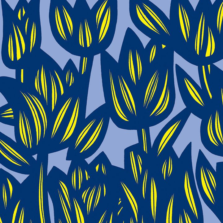 Resplendence Flowers Yellow Blue - 631 Art