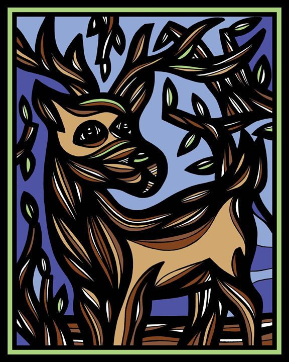 Tableaux Ram Goat Antelope Deer Brow - 631 Art