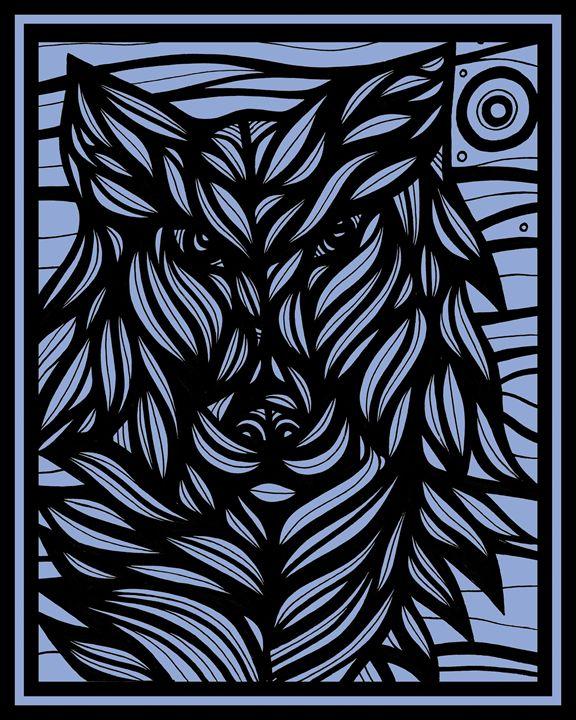 Ameliorate Wolf Blue Black - 631 Art