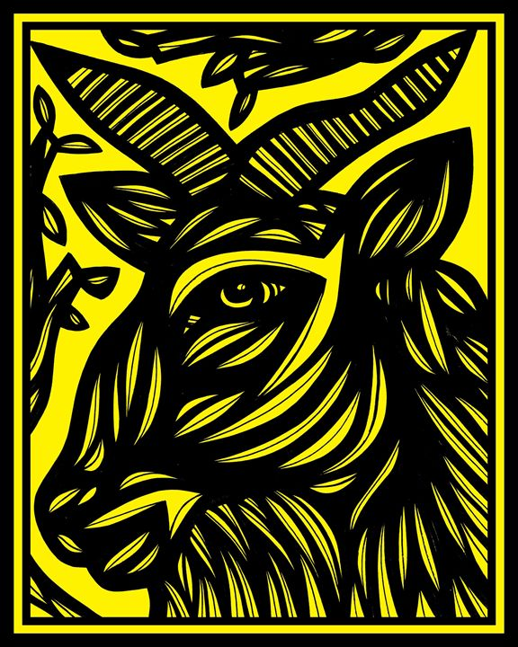Matriculate Ram Goat Antelope Deer Y - 631 Art