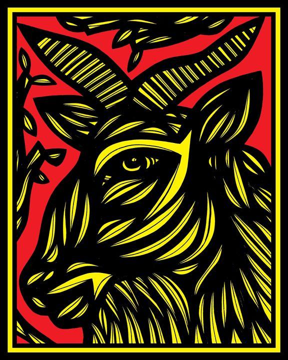 Gloaming Ram Goat Antelope Deer Yell - 631 Art