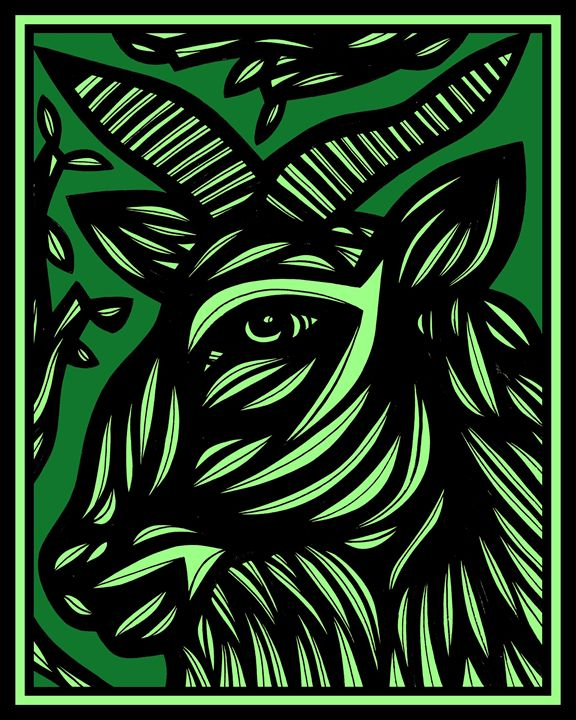 Effervesce Ram Goat Antelope Deer Gr - 631 Art