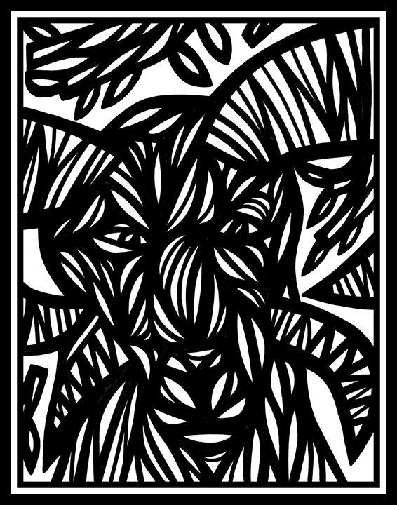 Epistle Ram Goat Antelope Deer Black - 631 Art