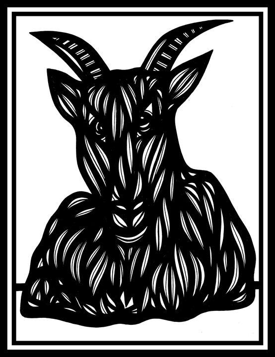 Breeze Ram Goat Antelope Deer Black - 631 Art