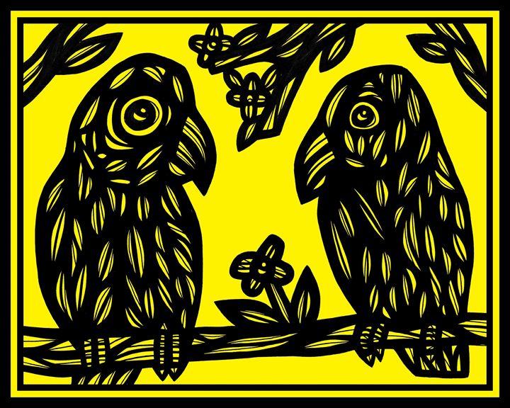 Overfelt Parrot Yellow Black - 631 Art