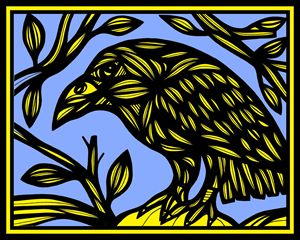 Forrister Magpie Yellow Blue - 631 Art