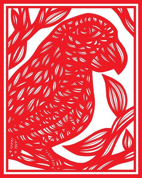 Asphodel Parrot Red White - 631 Art