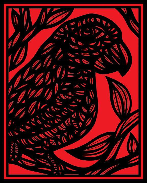 Expatiate Parrot Red Black - 631 Art