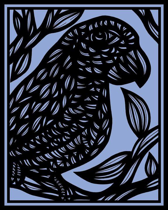 Eviscerate Parrot Blue Black - 631 Art