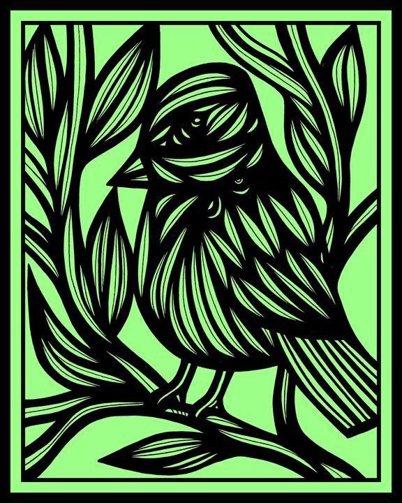 Libeccio Bird Green Black - 631 Art