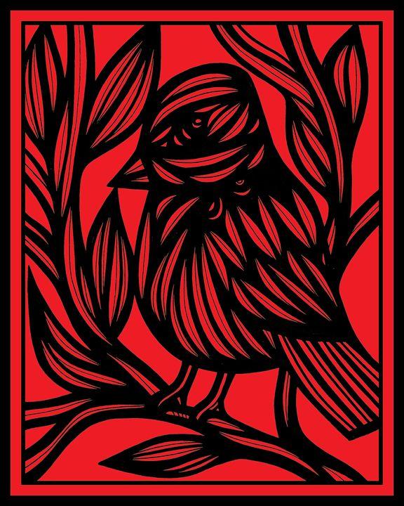 Opacity Bird Red Black - 631 Art