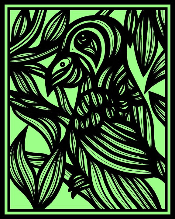 Inure Parrot Green Black - 631 Art