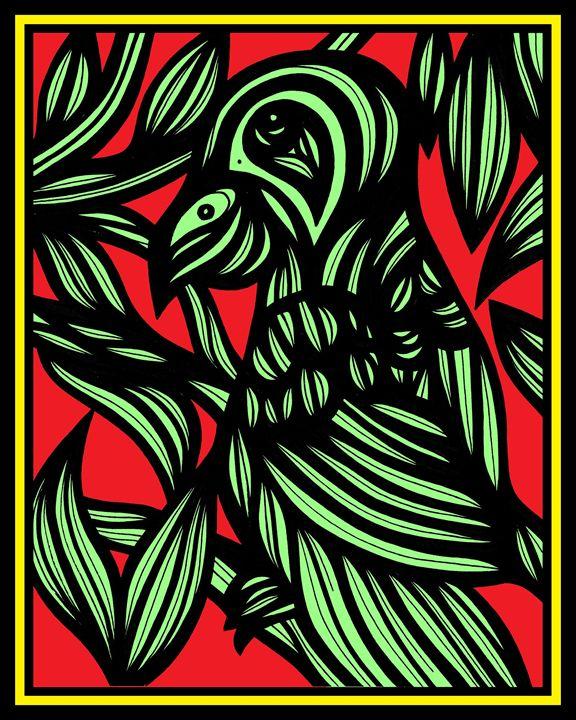 Nemesis Parrot Yellow Red Black - 631 Art