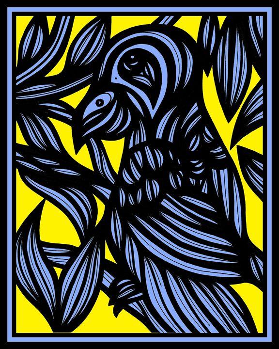 Threnody Parrot Yellow Blue - 631 Art