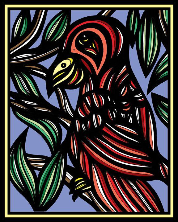 Shiver Parrot Yellow Black - 631 Art