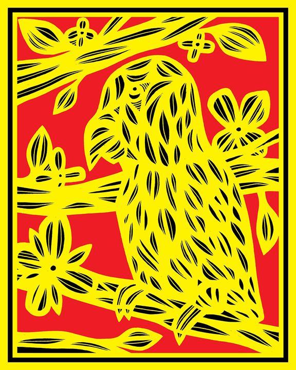 Palaver Parrot Yellow Red Black - 631 Art