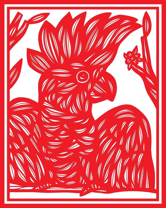 Beleaguer Cockatoo Red White - 631 Art