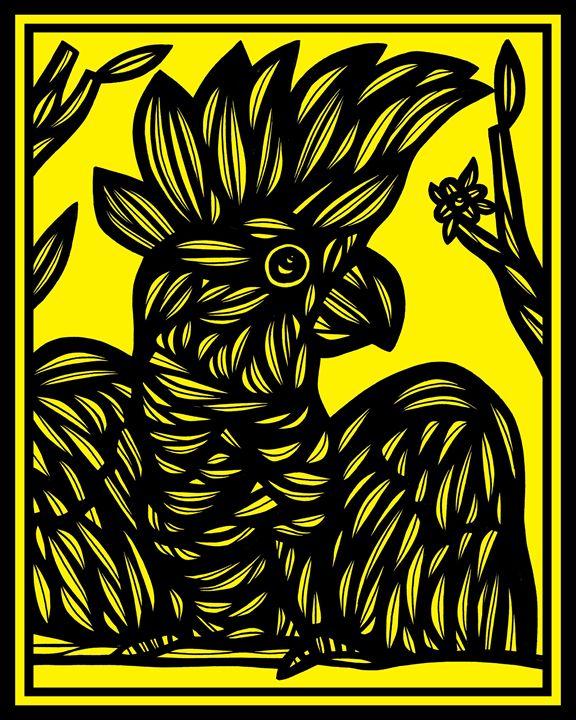 Pantomime Cockatoo Yellow Black - 631 Art