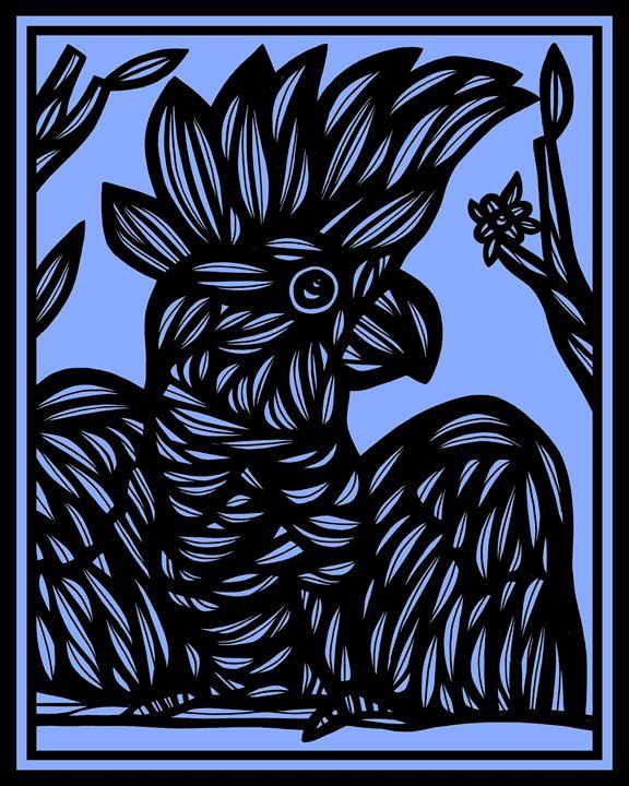 Epithelium Cockatoo Blue Black - 631 Art