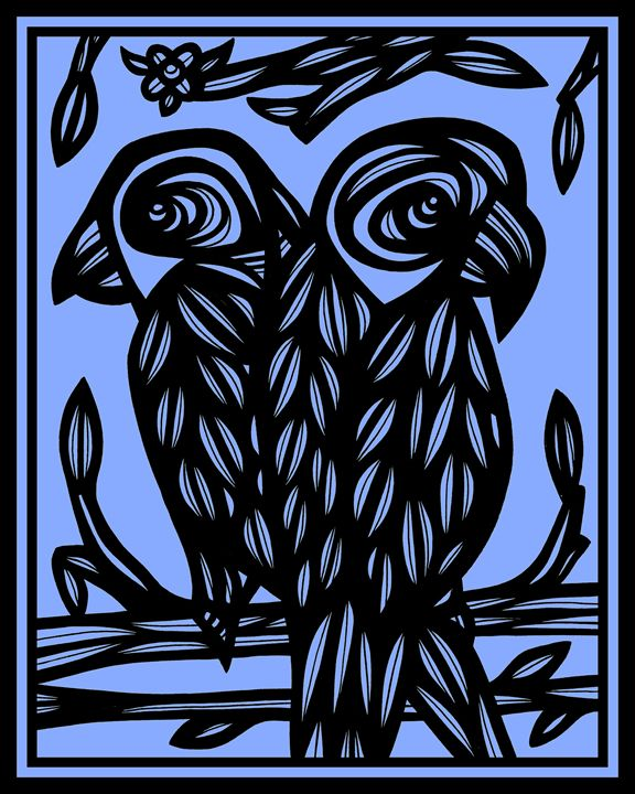 Emaciate Parrot Blue Black - 631 Art