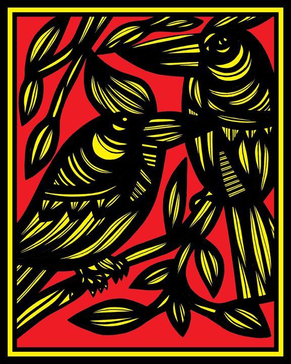 Elation Bird Yellow Red Black - 631 Art