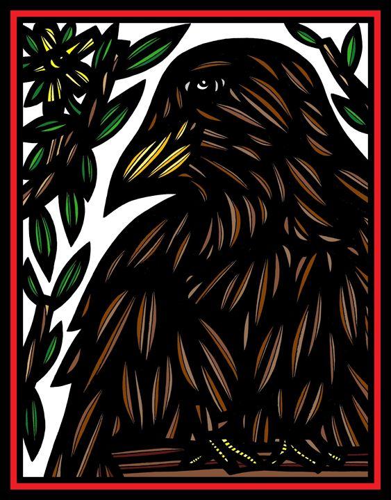 Efflorescence Bird Brown White Black - 631 Art