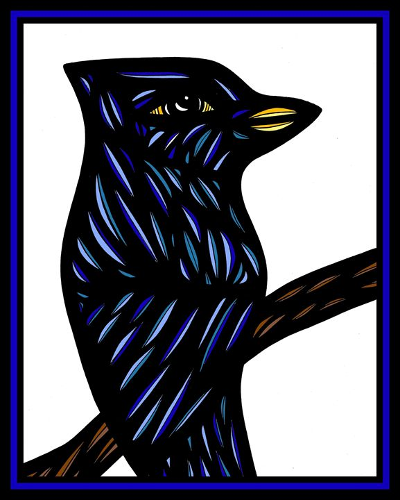 Elixir Bird Blue Black - 631 Art